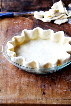 The flakiest, most tender, all-butter pie crust; also how to blind-bake a pastry shell