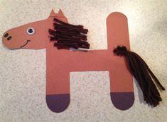 letter h horse craft