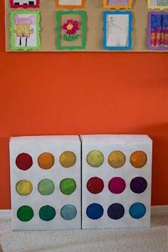 Art (Rainbow) Birthday Party Ideas | Photo 21 of 33 | Catch My Party