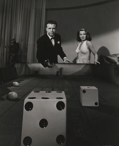 """Film Noir, Dick Powell and Evelyn Keyes in """"Johnny O'Clock"""" (1947)"""