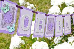 Lavender Baby Shower Bridal Shower Banner.  by greenbutterflydream, $20.00