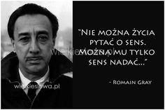Nie można życia  pytać o sens... #Gray-Romain,  #Życie