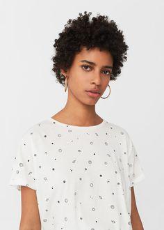 Katoenen t-shirt met print | MANGO