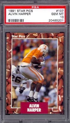 1991 Star Pics #107 Alvin Harper Rookie Cowboys PSA 10 pop 4 by Star. $6.00. 1991 Star Pics #107 Alvin Harper Rookie Cowboys PSA 10 pop 4. If multiple items appear in the image, the item you are purchasing is the one described in the title.