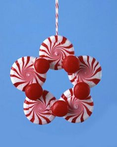 For your tree! (I have one tree decorated with candy ornaments - this would fit right in! For your tree! (I have one tree decorated with candy ornaments - this would fit right in! Christmas Ornament Crafts, Christmas Crafts For Kids, Christmas Projects, Simple Christmas, Winter Christmas, Handmade Christmas, Holiday Crafts, Christmas Gifts, Christmas Decorations