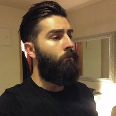 Chris John Millington full thick dark beard and mustache beards bearded man men mens' style hair hairstyles cut barber bushy bearding candid #beardsforever
