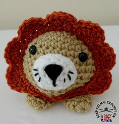 Doodle Zoo character number 9; Rory or (Leonie) the Lion is a great little stash buster! All the Doodle Zoo animals are designed to work up in less than an hour and because they are just the right hand size they become very steal-able so be prepared to make a few! Rory would make a cute additional gift for family and friends or an quick addition to a craft stall.
