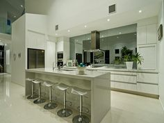 mirror splashback very cool, brings more light into room, but is it harder to keep clean