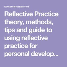 Reflective Practice theory, methods, tips and guide to using reflective practice for personal development and training Code Of Ethics, Promotion Tools, Reflective Practice, Ticket Sales, Personal Development, No Response, Self, Coding, Motivation