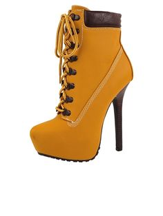 936bff99fec3 Tyrant Bootie by Dollhouse - Sexy Timberland boots for the ladies ♥ High  Heel Combat Boots