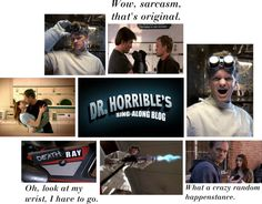 """Dr. Horrible's Sing-Along Blog"" by weshippinklainetillwedrop ❤ liked on Polyvore"