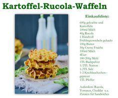 Kartoffel Rucola Waffeln | Das Knusperstübchen