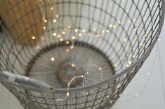 mini lights on a basket