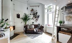 Скандинавская квартирка с необычной планировкой площадью всего 17 м² Красивые квартиры