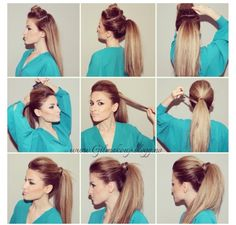 cool Frisky Puffed Party Ponytail ~ Entertainment News, Photos & Videos - Calgary, Edmonton, Toronto, Canada Read More by baileykemp.How To Make The Perfect PonytailPonytail ideas for long Glamorous Ponytail Hairstyles Tutorials For Summer You Work Hairstyles, Pretty Hairstyles, Ponytail Hairstyles Tutorial, High Ponytail Hairstyles, Messy Ponytail Tutorial, Perfect Ponytail, Hair Pictures, Great Hair, Hair Day
