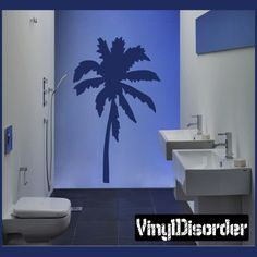 Palm Tree Wall Decal - Vinyl Decal - Car Decal - NS011