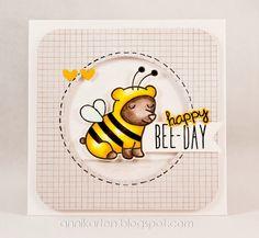 Annikarten: Bienenbär Lawn Fawn: Critters in Costume