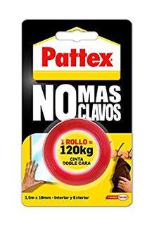Pattex 1403701 - No más clavos, cinta doble cara rollo