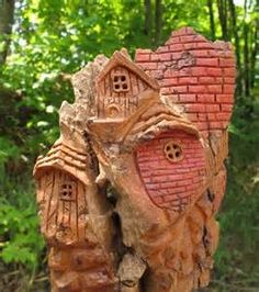 Carved Bark Houses - - Yahoo Image Search Results