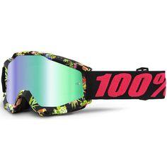 Radsport 100% Racecraft Anti Fog Mirror Goggles attack yellow 2019 Bike Goggles gelb