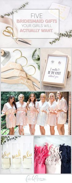 From robes to jewelry, and everything in between, Foxblossom Co. offers the best quality, handmade, personalized gifts for your bridesmaids!    http://www.foxblossom.com