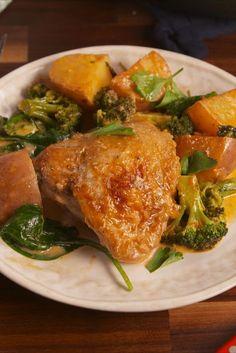 Garlic Parm Chicken And Potatoes