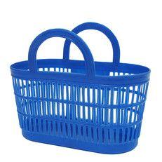plastic boodschappenmandje | blauw