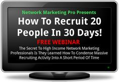 "FREE WEBINAR with ERIC WORRE on ""How To Recruit 20 People In 30 Days""  http://j.mp/Marco-Izurieta-C-and-TELEXFREE"