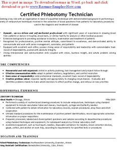 free phlebotomy resume examples phlebotomy resumes free phlebotomy classes