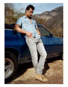 "#Men / #Teen / #Fashion ///Casual Men's Style/ David Gandy for ""California Dreaming"" Lucky Brand, Summer 2014."