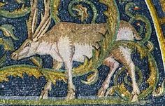 Ravenna, Italy, a deeer in the mosaics of the Mausoleum of Galla Placidia Ravenna Mosaics, Roman Mosaics, Byzantine Art, Byzantine Mosaics, Mosaic Art, Mosaic Tiles, Fresco, Mosaic Animals, Ravenna Italy