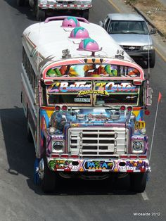 """Panama , Panama Bus, the original --happy I got the pictures of last surviving """"Diablos"""" before they were gone--May, 2012."""