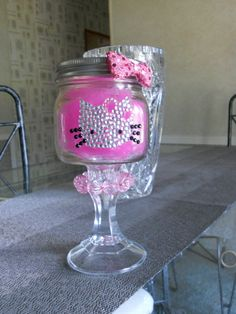 Hello Kitty Redneck Margarita Glass by KeepinItCraftyy on Etsy, $25.00