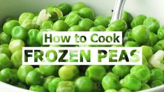 How to Cook Frozen Peas (the RIGHT way) | Favorite Family Recipes Perfect Mashed Potatoes, Twice Baked Potatoes, Creamed Peas, Creamed Spinach, Copycat Recipes, Crockpot Recipes, Cooking Recipes, Family Recipes, Family Meals