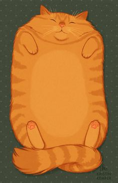 ilustración de Kristin Kemper. Looks like our kitty--especially if it had a white chest!