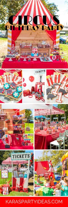 Circus Carnival Birthday Party via Kara's Party Ideas | KarasPartyIdeas.com