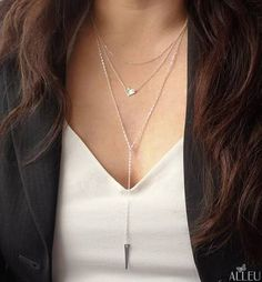 silver drop necklace - Google Search