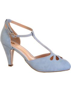 Take the Cake T-Strap Heels in Blue Skies at PLASTICLAND