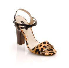 Carol -A pair of sexy leopard and zebra sandals for your wardrobe.