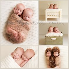 I hope I never have twins, but just in case Newborn Twins, Newborn Poses, Twin Babies, Cute Babies, Baby Kids, Twin Boys, Newborns, Twin Pictures, Twin Photos