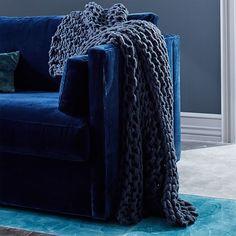 Chunky Tape Knit Throw - Shadow Blue #westelm
