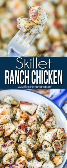 Skillet Ranch Chicken is a quick and easy meal to make for any evening. You will love the flavors win this delicious chicken. Skillet Ranch Chicken is a quick and easy meal to make for any evening. You will love the flavors win this delicious chicken. Easy Food To Make, Quick Easy Meals, Easy Dinners To Make, Easy Meals For One, Easy Skillet Meals, Easy To Cook Meals, Ranch Chicken Recipes, Cooking Recipes, Healthy Recipes