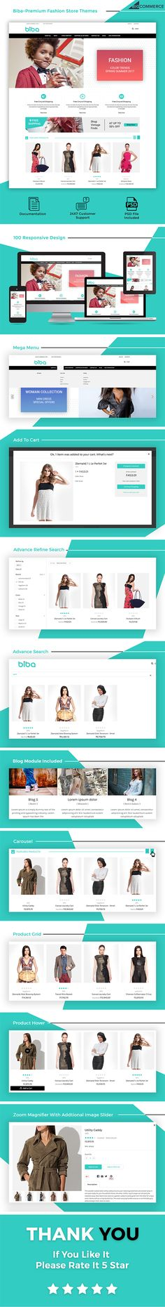 Overview     Biba  – Multipurpose Stencil Bigcommerce Theme is a modern, clean and professional BigCommerce theme is fully responsive, it looks stunning on all types of screens and device...