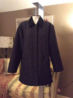 Weekend-Max-Mara-Black-Quilted-Peacoat-Jacket-Coat-Size-10