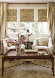 Living Room Window Treatments Pictures Blue And Brown Curtains 107 Best Treatment Images Diy Ideas For Home Windows Coverings Woven Wood Shades In A Natural Material