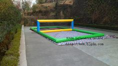 Inflatable water volleyball court Water sport products