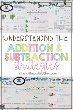 "The Common Core State Standards reference several ""different"" strategies for addition and subtraction, but when you really research them, you discover that there are really only three strategies. In this post, I teach you about the split strategy, the jump strategy, and the shortcut strategy. Get all of the details here"