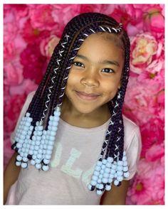 Toddler Braided Hairstyles, Toddler Braids, Lil Girl Hairstyles, Black Kids Hairstyles, Natural Hairstyles For Kids, Box Braids Hairstyles, Natural Hair Styles, Kids Braids With Beads, Braids For Kids
