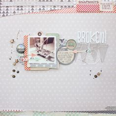 Janna Werner ★ Papiersalat: #scrapbooking page for #ILS and #ChicTags, featuring #HeidiSwapp Color Shine