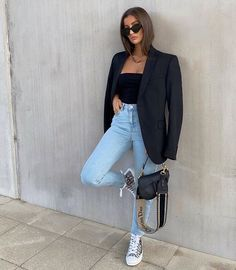 Jean Outfits, Casual Outfits, Fashion Outfits, Womens Fashion, Minimalist Fashion Women, Everyday Outfits, Pretty Outfits, Spring Outfits, Going Out